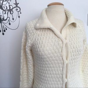 Zara Knitted W belt cardigan Sz L